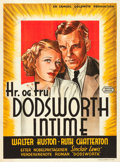 "Movie Posters:Drama, Dodsworth (United Artists, 1936). Danish One Sheet (24.75"" X33.25"").. ..."