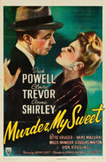 "Movie Posters:Film Noir, Murder, My Sweet (RKO, 1944). One Sheet (27"" X 41""). From the Leonard and Alice Maltin Collection.. ..."