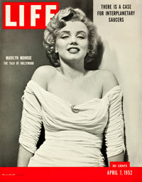 "Marilyn Monroe Life Magazine (Life Magazine, 1952). Point of Purchase Poster (27"" X 34.5"")"