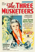 "Movie Posters:Serial, The Three Musketeers (Mascot, 1933). One Sheet (27"" X 41"") Chapter1 -- ""the Fiery Circle."". ..."