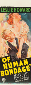 "Movie Posters:Drama, Of Human Bondage (RKO, 1934). Pre-War Australian Daybill (14.5"" X40"").. ..."