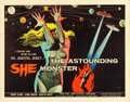 "Movie Posters:Science Fiction, The Astounding She Monster (American International, 1958). HalfSheet (22"" X 28""). From the collection of Wade Williams...."