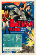 "Movie Posters:Serial, The New Adventures of Batman and Robin (Columbia, 1949). One Sheet(27"" X 41"") Chapter 13--""The Wizard's Challenge."". ..."