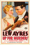 "Movie Posters:Drama, Up for Murder (Universal, 1931). One Sheet (27"" X 41"").. ..."