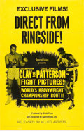 "Movie Posters:Sports, Clay vs. Patterson (Allied Artists, 1965). One Sheet (26.75"" X 41.5"").. ..."