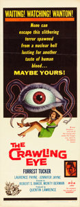 "Movie Posters:Science Fiction, The Crawling Eye (DCA, 1958). Insert (14"" X 36""). From thecollection of Wade Williams.. ..."