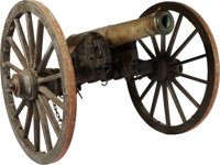U.S. Model 1841 Field Gun by Ames, dated 1847, with original No. 1 Field Carriage