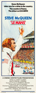 "Movie Posters:Sports, Le Mans (National General, 1971). Insert (14"" X 36""). From thecollection of Wade Williams.. ..."