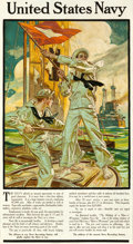 """Movie Posters:Miscellaneous, United States Navy Recruiting Poster (Street & Finney, 1910). J.C. Leyendecker Poster (20.25"""" X 36.75"""").. ..."""