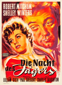 """The Night of the Hunter (United Artists, 1955). German A1 (23"""" X 33"""")"""