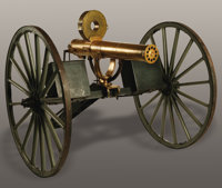 FANTASTIC MODEL 1883 GATLING GUN - 'Manufactured by Colt's Pat. F.A. Mfg. Co. & U.S. Government Inspected'. Rarely i...