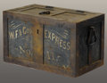 """Western Expansion:Cowboy, WELLS FARGO """"SAFE"""" BOX CIRCA 1890's - 1900's - Very nice heavysteel """"safe"""" box. In great working order with very good pati..."""