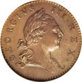 Colonials: , 1773 1/2P Virginia Halfpenny, No Period MS65 Brown NGC. Eight harp strings. Dies unlisted in Newman (1956). A fully proofli...