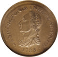 Colonials: , 1783 1C Washington & Independence Cent, Draped Bust--Broadstruck--MS65 Brown NGC. Ex: Ford. Baker-2, R.1. No Toga Button. T...