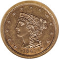 Proof Braided Hair Half Cents: , 1841 1/2 C Original PR64 Brown PCGS. B-1, R.6. Die State III. Anoriginal striking as evidenced by the large berries on the...