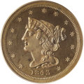 Proof Braided Hair Half Cents: , 1843 1/2 C Original PR65 Brown PCGS. B-1a, R.6. A lovely Gem proof example of the Original variety, actually struck in 1843...