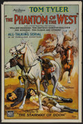 "Movie Posters:Serial, The Phantom of the West (Mascot, 1931). One Sheet (27"" X 41"")Chapter 2--""The Stairway of Doom."" Serial...."