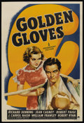 "Movie Posters:Crime, Golden Gloves (Paramount, 1940). One Sheet (27"" X 41"") Style A.Crime. ..."