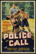 "Movie Posters:Crime, Police Call (Showmens Pictures, 1933). One Sheet (27"" X 41"").Crime. ..."