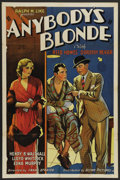 "Movie Posters:Drama, Anybody's Blonde (Mayfair Pictures, 1931). One Sheet (27"" X 41""). Drama. ..."