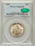 Standing Liberty Quarters: , 1929 25C MS66 Full Head PCGS. CAC. PCGS Population (92/5). NGCCensus: (56/9). Mintage: 11,140,000. Numismedia Wsl. Price f...