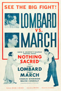 """Movie Posters:Comedy, Nothing Sacred (United Artists, 1937). One Sheet (27"""" X 41"""") FightStyle.. ..."""