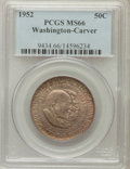 Commemorative Silver: , 1952 50C Washington-Carver MS66 PCGS. PCGS Population (272/10). NGCCensus: (289/15). Mintage: 2,006,292. Numismedia Wsl. P...
