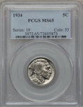 Buffalo Nickels: , 1934 5C MS65 PCGS. PCGS Population (550/202). NGC Census: (290/82).Mintage: 20,213,004. Numismedia Wsl. Price for problem ...
