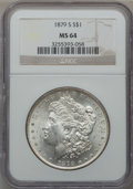 Morgan Dollars: , 1879-S $1 MS64 NGC. NGC Census: (35865/30389). PCGS Population(35511/30917). Mintage: 9,110,000. Numismedia Wsl. Price for...