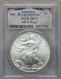 Modern Bullion Coins, 2009 $1 Silver Eagle MS70 PCGS. PCGS Population (20744). NGCCensus: (4531). Numismedia Wsl. Price for problem free NGC/PC...