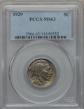Buffalo Nickels: , 1929 5C MS63 PCGS. PCGS Population (227/1560). NGC Census:(135/816). Mintage: 36,446,000. Numismedia Wsl. Price for proble...