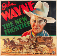 "The New Frontier (Republic, 1935). Six Sheet (81"" X 81"")"