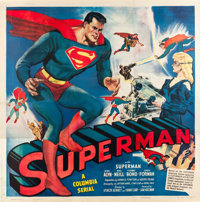 "Superman (Columbia, 1948). Six Sheet (81"" X 81"")"