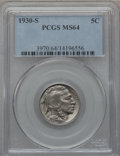 Buffalo Nickels: , 1930-S 5C MS64 PCGS. PCGS Population (506/569). NGC Census:(277/194). Mintage: 5,435,000. Numismedia Wsl. Price for proble...