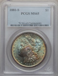 Morgan Dollars: , 1881-S $1 MS65 PCGS. PCGS Population (47555/13727). NGC Census:(50076/20426). Mintage: 12,760,000. Numismedia Wsl. Price f...