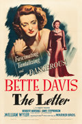 "Movie Posters:Film Noir, The Letter (Warner Brothers, 1940). One Sheet (27"" X 41"").. ..."