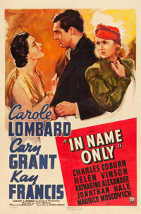 "In Name Only (RKO, 1939). One Sheet (27"" X 41"")"