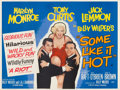 "Movie Posters:Comedy, Some Like It Hot (United Artists, 1959). British Quad (30"" X 40"").. ..."