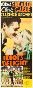 "Movie Posters:Comedy, Idiot's Delight (MGM, 1939). Insert (14"" X 36"").. ..."