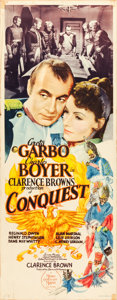 "Movie Posters:Drama, Conquest (MGM, 1937). Insert (14"" X 36"").. ..."
