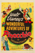 "Movie Posters:Animation, Pinocchio (RKO, R-1945). One Sheet (27"" X 41"").. ..."