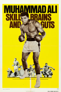 """Legends of the Ring: Muhammad Ali - Skill, Brains and Guts (Bryanston, 1975). One Sheet (27"""" X 41"""")"""
