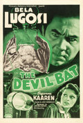 "Movie Posters:Horror, The Devil Bat (PRC, 1940). One Sheet (27"" X 41"").. ..."