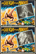 "Movie Posters:Science Fiction, The War of the Worlds (Cinema International Corporation, R-1970s).Mexican Lobby Card Set of 8 (13"" X 16.5"").. ... (Total: 9 Items)"