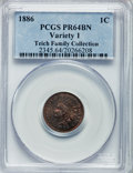 Proof Indian Cents: , 1886 1C Type One PR64 Brown PCGS. PCGS Population (69/65). NGCCensus: (63/107). Mintage: 4,290. Numismedia Wsl. Price for ...