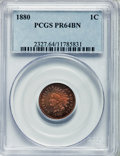 Proof Indian Cents: , 1880 1C PR64 Brown PCGS. PCGS Population (22/19). NGC Census:(58/62). Mintage: 3,955. Numismedia Wsl. Price for problem fr...