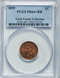 Proof Indian Cents: , 1899 1C PR64+ Red and Brown PCGS. PCGS Population (89/95). NGCCensus: (50/87). Mintage: 2,031. Numismedia Wsl. Price for p...