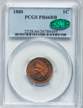 Proof Indian Cents, 1880 1C PR66 Red and Brown PCGS. CAC....