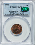 Proof Indian Cents: , 1890 1C PR65 Red and Brown PCGS. CAC. PCGS Population (33/3). NGCCensus: (40/2). Mintage: 2,740. Numismedia Wsl. Price for...