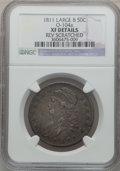Bust Half Dollars: , 1811 50C Large 8 -- Rev Scratched -- NGC Details. XF. O-104a. NGCCensus: (29/760). PCGS Population (26/288). Mintage: 1,2...